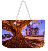 Historic Fermin Point Lighthouse In Infrared Weekender Tote Bag