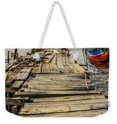 Historic Fishing Pier In Portugal I Weekender Tote Bag