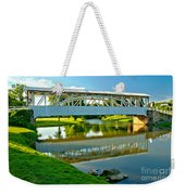 Historic Halls Mill Bridge Reflections Weekender Tote Bag