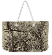 Historic Lane Antique Sepia Weekender Tote Bag