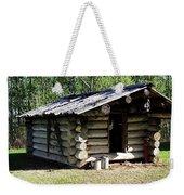 Historic Log Trappers Cabin Weekender Tote Bag