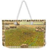 Historic Map Of Denver Weekender Tote Bag