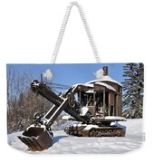Historic Mining Steam Shovel During Alaska Winter Weekender Tote Bag