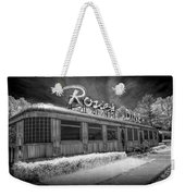 Historic Rosie's Diner In Black And White Infrared Weekender Tote Bag