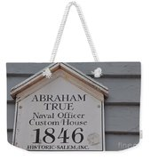 Historic Salem Naval Officer Weekender Tote Bag