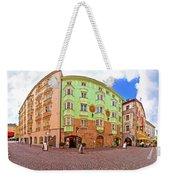 Historic Street Of Innsbruck Panoramic View Weekender Tote Bag