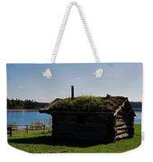 Historic Trappers Log Cabin Weekender Tote Bag