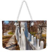Historic Vermont Fence Weekender Tote Bag