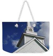 Historic White Church Weekender Tote Bag