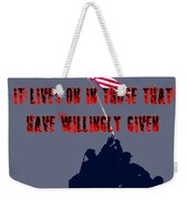 History Lives In The Given Weekender Tote Bag