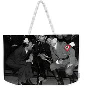 Hitler Conferring With Joseph Goebbels Circa 1936 Color Added 2016 Weekender Tote Bag