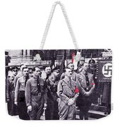 Hitler With Nazi Entourage Hess And Himmler In 2nd Row Circa 1935 Color Added 2016 Weekender Tote Bag