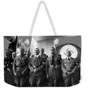Hitler With Nazi Party Bigwigs Julius Streicher On Far Right C. 1935 Color Added 2016 Weekender Tote Bag