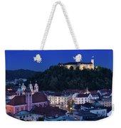 Hlltop Ljubljana Castle Overlooking The Old Town Of Ljubljana Ca Weekender Tote Bag
