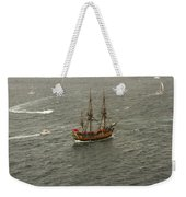 Hmb Endevour Enters Sydney Harbour Weekender Tote Bag