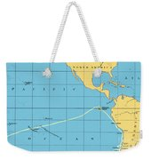 H.m.s. Beagle Course To Galapagos Weekender Tote Bag