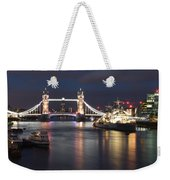 Hms Belfast And Tower Bridge Weekender Tote Bag