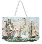 Hms Shannon Vs The American Chesapeake Weekender Tote Bag