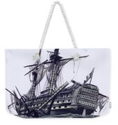 Hms Victory After The Battle Of Trafalgar, With Mizzen Topmast Shot Away Weekender Tote Bag