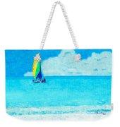 Hobie Sailing Off Lido Beach Coast Weekender Tote Bag