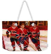Hockey At The Forum Weekender Tote Bag