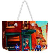 Hockey At Wilenskys Corner Weekender Tote Bag
