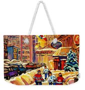 Hockey Fever Hits Montreal Bigtime Weekender Tote Bag