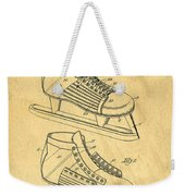 Hockey Skates Patent Art Blueprint Drawing Weekender Tote Bag