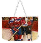 Hockey Stars At The Forum Weekender Tote Bag