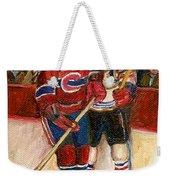 Hockey Stars At The Forum Weekender Tote Bag