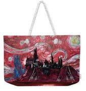Hogwarts Starry Night In Red Weekender Tote Bag