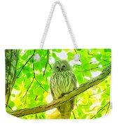 Owl  Watercolor Touch Weekender Tote Bag