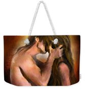 Hold On With A Kiss Weekender Tote Bag