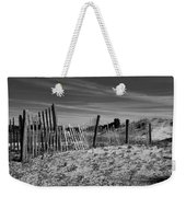 Holding Back The Dunes In Black And White Weekender Tote Bag