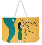 Holding Back The Flood Weekender Tote Bag