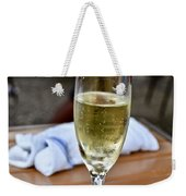 Holding Champagne Glass In Hand Weekender Tote Bag