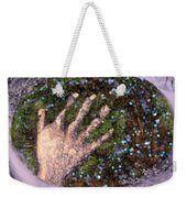 Holding Earth From The Series Our Book Of Common Faith Weekender Tote Bag