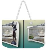 Holding Up My End - Gently Cross Your Eyes And Focus On The Middle Image Weekender Tote Bag