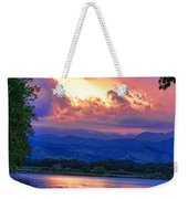 Hole In The Sky Sunset Weekender Tote Bag