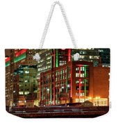 Holiday Colors Along Chicago River Weekender Tote Bag