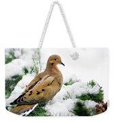 Holiday Dove Weekender Tote Bag