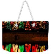 Holiday Evergreen Reflections Weekender Tote Bag