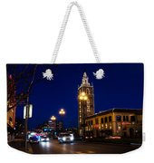 Holiday On The Plaza Weekender Tote Bag
