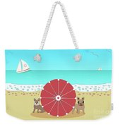 Holiday Romance Behind The Red Umbrella Weekender Tote Bag