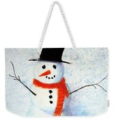 Holiday Snowman Weekender Tote Bag