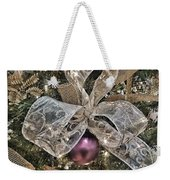Holiday Sparkle Bow Weekender Tote Bag