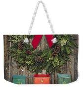 Holiday Wreath Weekender Tote Bag
