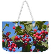 Holly Berries On A Wintry Day I Weekender Tote Bag