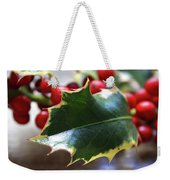 Holly Berries- Photograph By Linda Woods Weekender Tote Bag