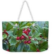 Holly Berries Weekender Tote Bag
